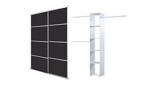 Black Glass Wardrobe Doors by Silver Frame Black Glass 4 Panel Sliding Wardrobe Doors