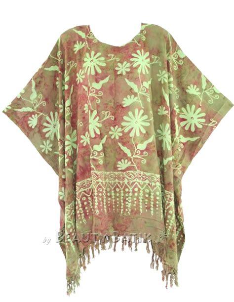 Kaftan Batik 24 block print batik kaftan poncho tunic top blouse plus size