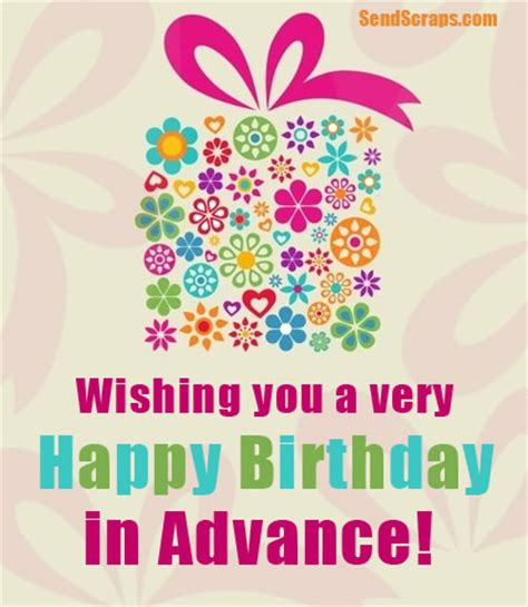 Advance Happy Birthday Wish ᐅ Top 10 Advance Birthday Images Greetings And Pictures