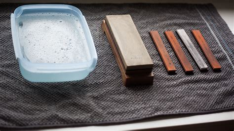 how to use a sharpening how to use a japanese water whetstone to sharpen a