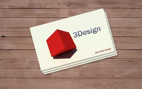 business card 3d template 100 free psd business card templates