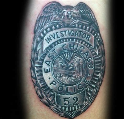 police badge tattoo 50 tattoos for enforcement officer design