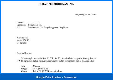 contoh surat permohonan izin contoh surat permohonan izin