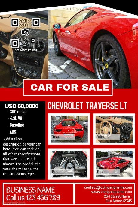 pro vehicle templates 41 best images about car dealer flyer diy on
