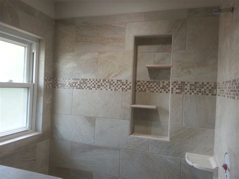 tub surround with single built in shower shelf marazzi built in shower shelves homesfeed