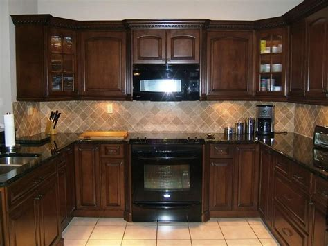 decorating ideas kitchen cabinets espresso with glass tile espresso kitchen cabinets in 12 sleek and cool designs