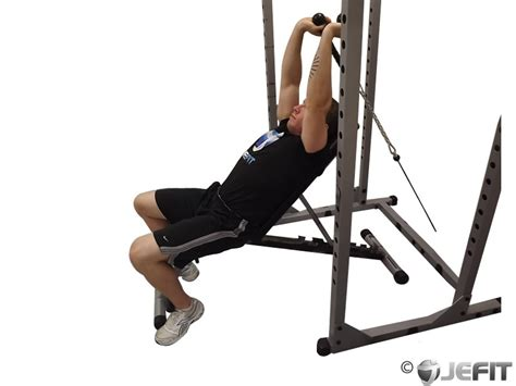 bench tricep extension cable rope incline tricep extension exercise database