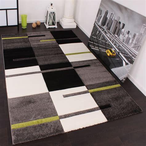 Muster Produkte Schweiz designer teppich mit konturenschnitt karo muster gr 252 n grau