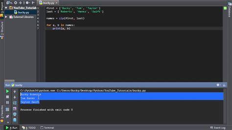 Python Tutorial Zip | python programming tutorial 39 zip and yeast