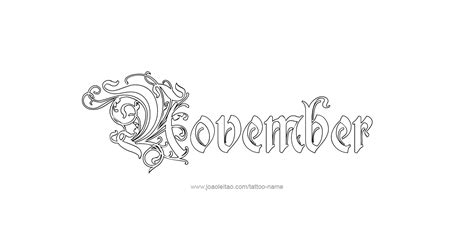 november month name tattoo designs tattoos with names