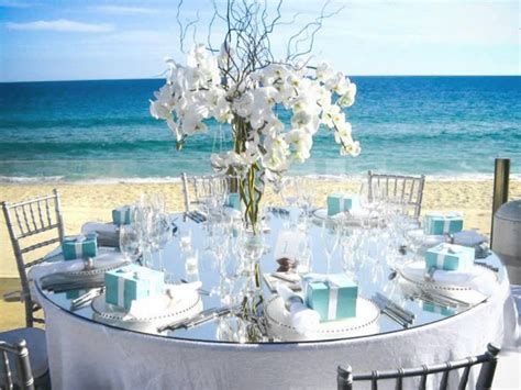 beach themed wedding centerpieces ideas wedding and