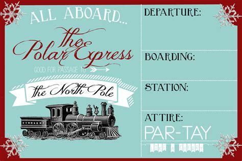 polar express party invitation party like a cherry