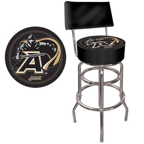 trademark commerce clc1100 arm army padded bar stool with back