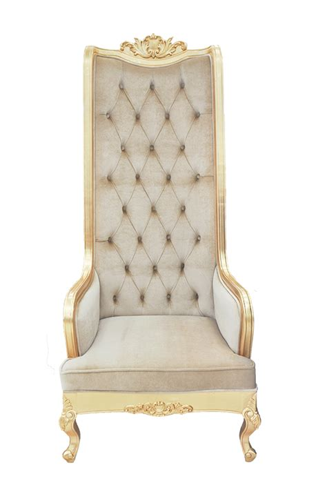 High Backed Throne Chair by High Back Chair King Throne Beige