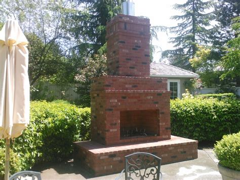 Outdoor Brick Fireplace Ideas by Outdoor Brick Fireplace