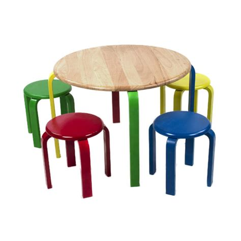 Multi Color Stool table set with stools multi color in bedroom