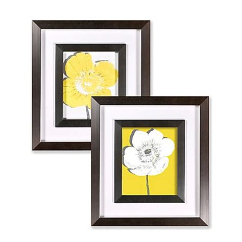 bed bath beyond wall decor yellow blossom wall art bed bath beyond
