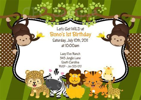 17 Safari Birthday Invitations Design Templates Free Printable Birthday Party Invitations Safari Invitation Template Free