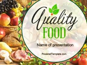 quality food powerpoint template by poweredtemplate com