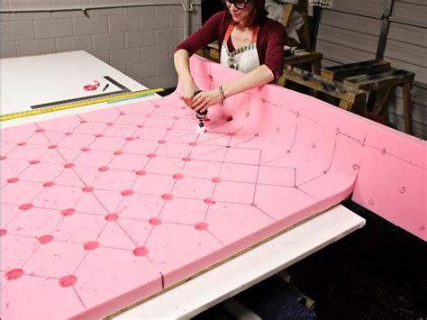 foam headboard diy how to make a tufted wingback headboard how tos diy