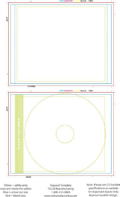 cd tray card template word cd tray card template