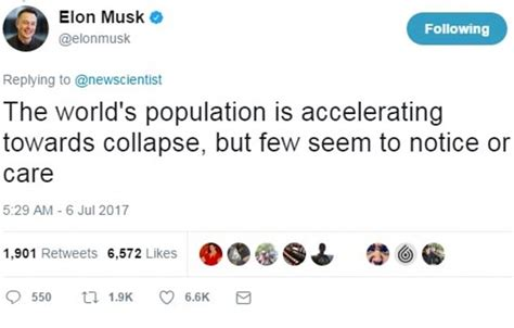 elon musk on twitter musk warns the world is accelerating towards collapse