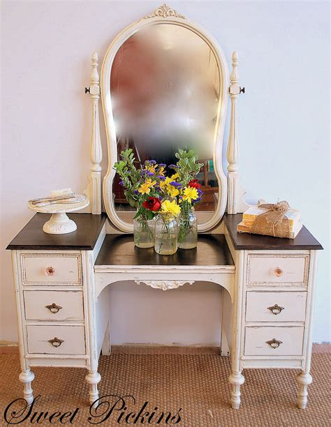 Antique Vanity by Before After Refinished Antique Vanity Sweet Pickins Furniture