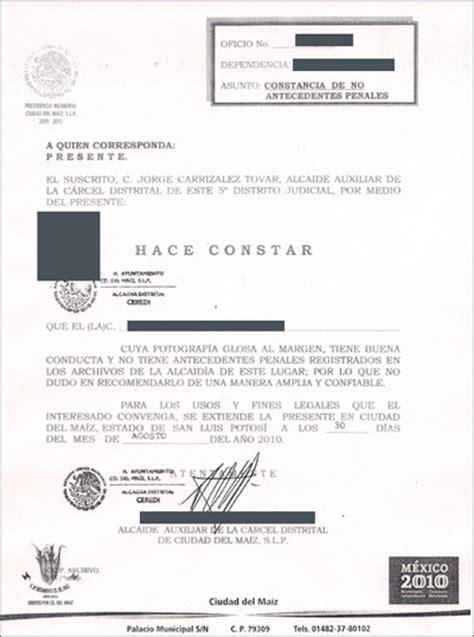 carta antecedentes no penales galer 237 a de fotos de whiteside translations toronto