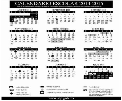 Calendario Escolar 2015 Sep Primaria Calendario Escolar 2014 De La Sep Imagui