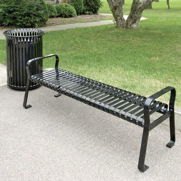 bench international travel bus bench metal slat 2209 streetscapes