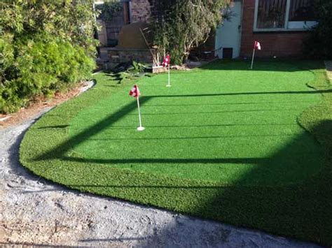How To Make A Backyard Putting Green by Study A Backyard Diy Synthetic Golf Green