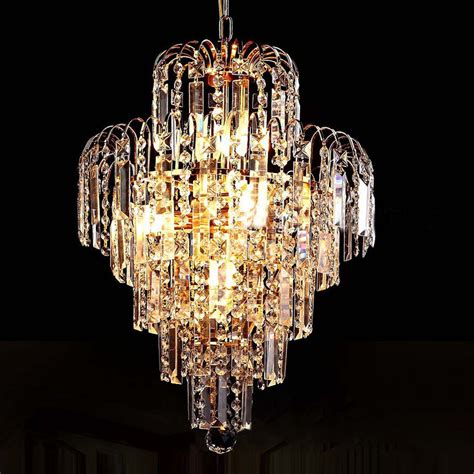 Luxury Royal Gold Crystal K9 Chandelier Pendant Lamp Crystal Golden Chandeliers Hall Living Room