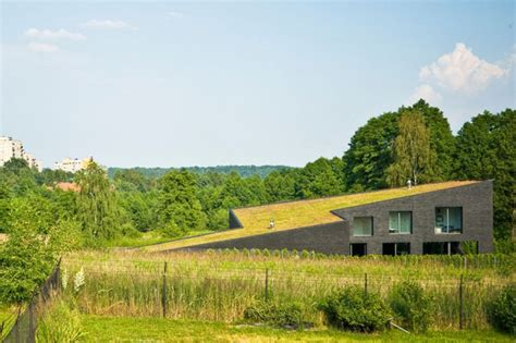 cawah homes modern green blending homes design by gayuh modern green roofed homes blend into poland s countryside