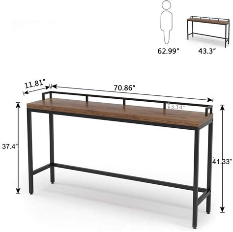 extra long solid wood console table  sofa