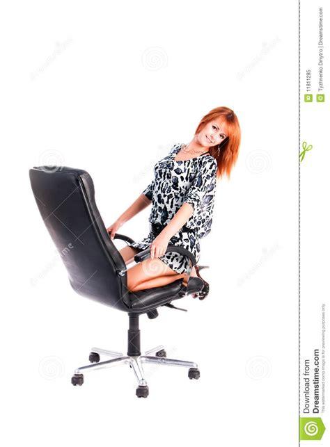 girls armchair young sweet girl on armchair stock image image 11811285