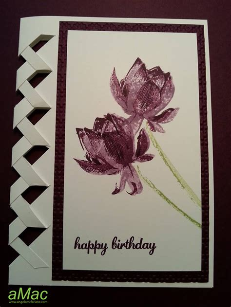 brandys cards braided card template braided card using lotus blossom st set amac
