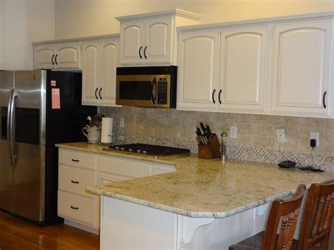 Refinished Dover White Kitchen Traditional Kitchen boise by Revive Cabinetry