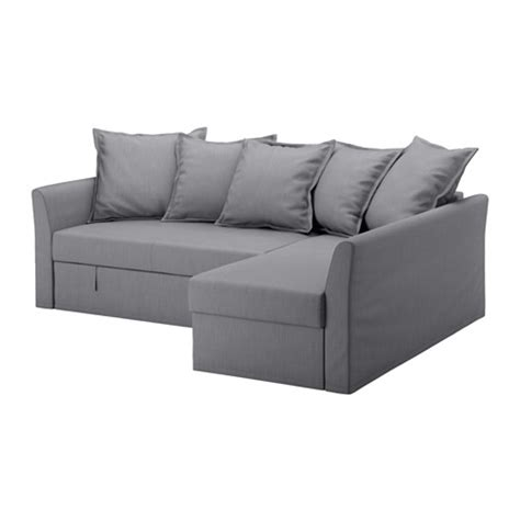 holmsund ikea holmsund sofa bed with chaise nordvalla medium gray ikea