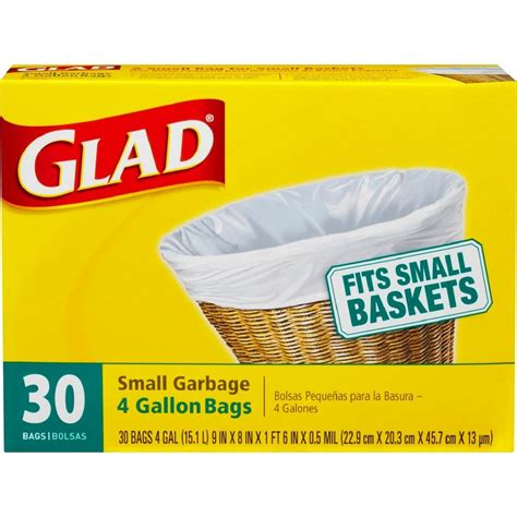 glad 4 gal trash bags 30 count 1258700150 the home depot