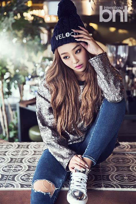 sistar hyorin tattoo hyorin is sporty and fashion forward in international bnt