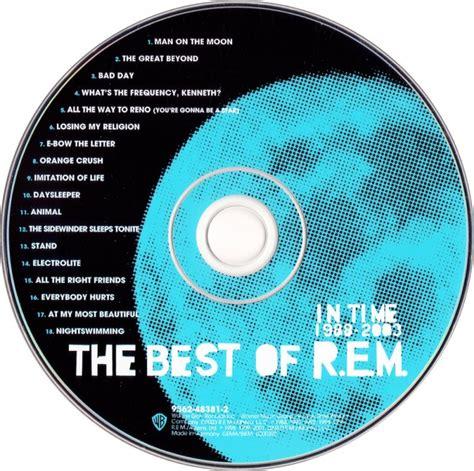 best of rem cd album r e m in time the best of r e m 1988 2003
