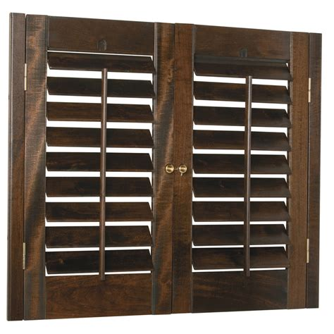 Wood Shutters Interior Lowes by Shop Style Selections 29 In To 31 In W X 36 In L