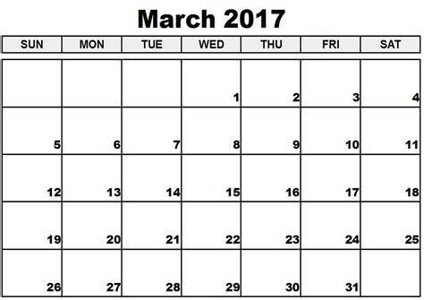 March Calendar 2017 March Calendar