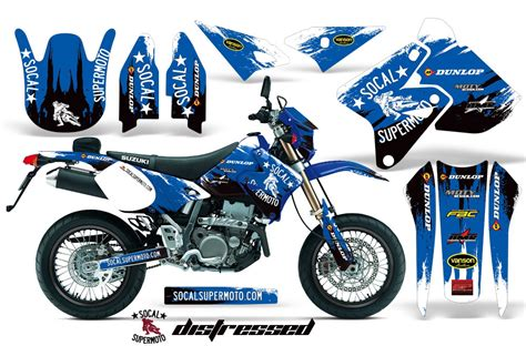 Suzuki Graphics Socal Supermoto Graphics Kit For Drz400 Suzuki Motocross