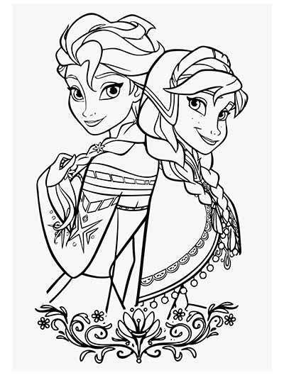 frozen coloring pages december   frozen