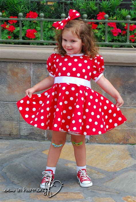 Minnie Mouse Dress minnie mouse dresses sew in harmony