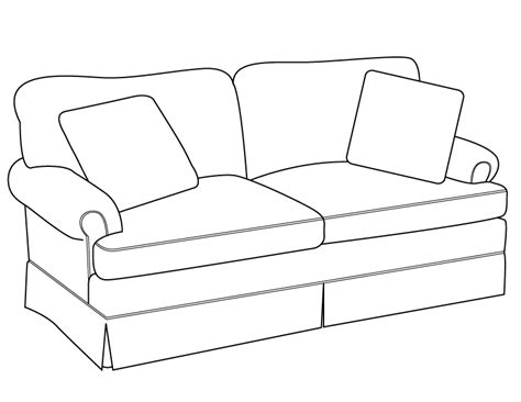 how to draw a couch easy sofa drawingline drawing modern traditions furniture