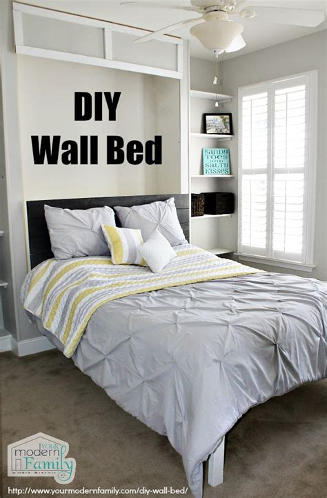 wall bed diy ikea homework station with yourmodernfamily