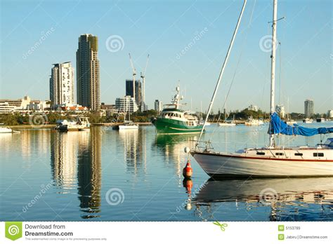 free boats gold coast broadwater boats gold coast royalty free stock images