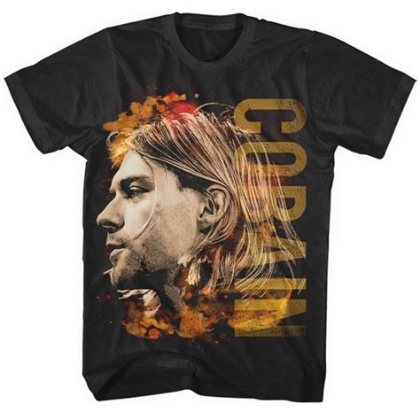 Kaos Nirvana Kurt Cobain 2 Gildan Tshirt kurt cobain t shirt coloured side view for only 163 15 84 at